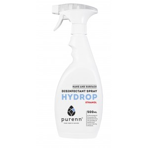 2 in 1 PURENN HYDROP Ethanol disinfectant 500ml