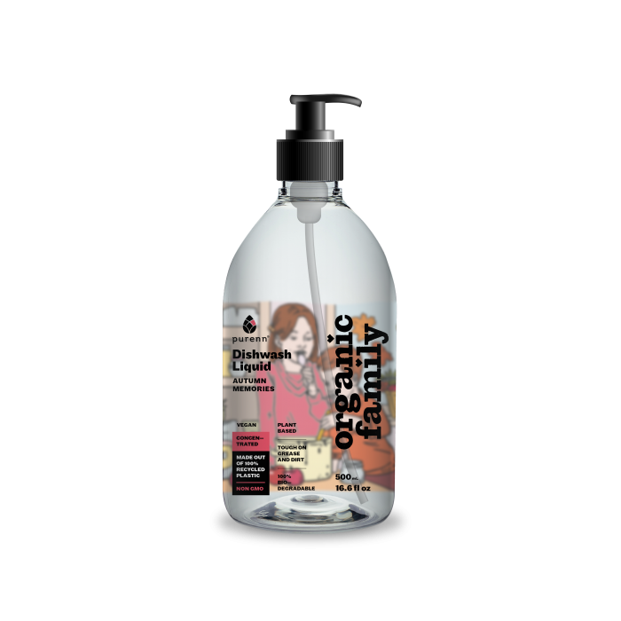Dishwashing liquid with aloe vera and lingonberry AUTUMN MEMORIES 500ml