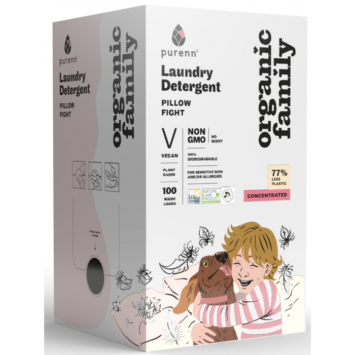 Organic Family PILLOW FIGHT Laundry Detergent 3L