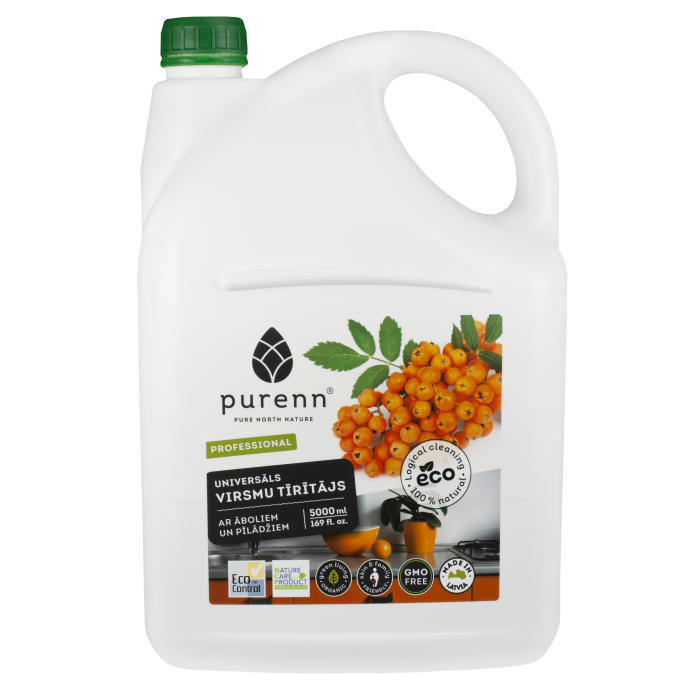 All purpose cleaner for kitchen with apple and rowanberry extracts 5L