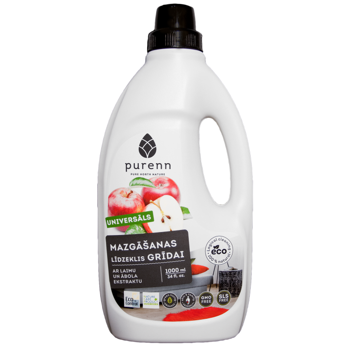 PURENN universal floor cleaner with lime and apple