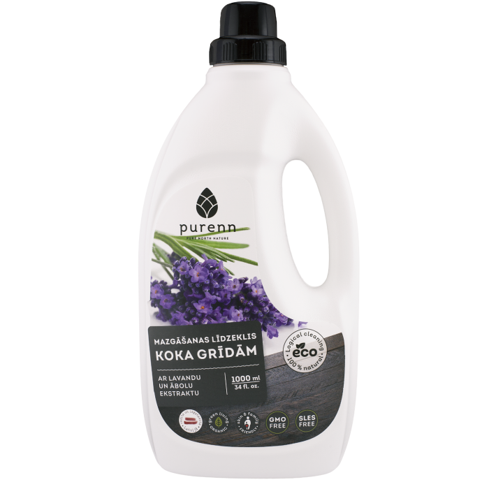PURENN wood floor cleaner with lavender and apple extract