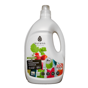 PURENN liquid laundry detergent with lavender and raspberry