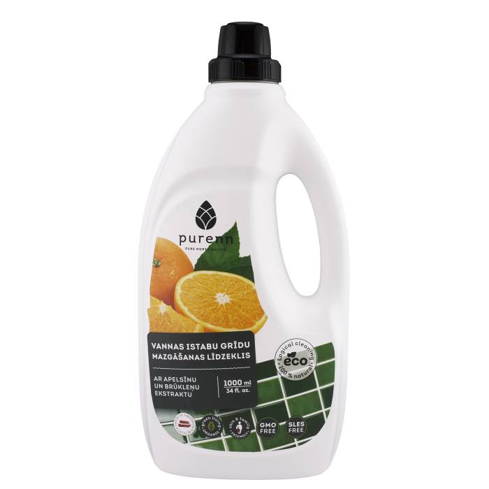 PURENN bathroom floor cleaner with orange and lingonberry extract
