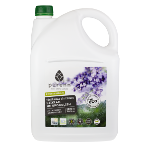 PURENN glass and window cleaner with lavender and bilberry extract