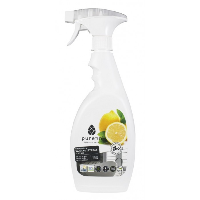 PURENN All purpose cleaner for bathroom with lemon and rowanberry extract 0.5L