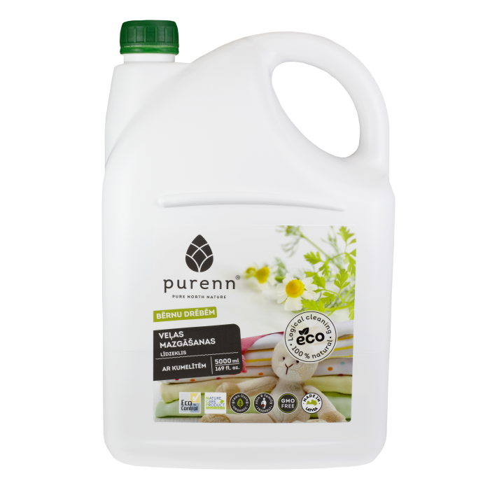 PURENN liquid laundry detergent for baby clothes with Aloe Vera and calendula 5L