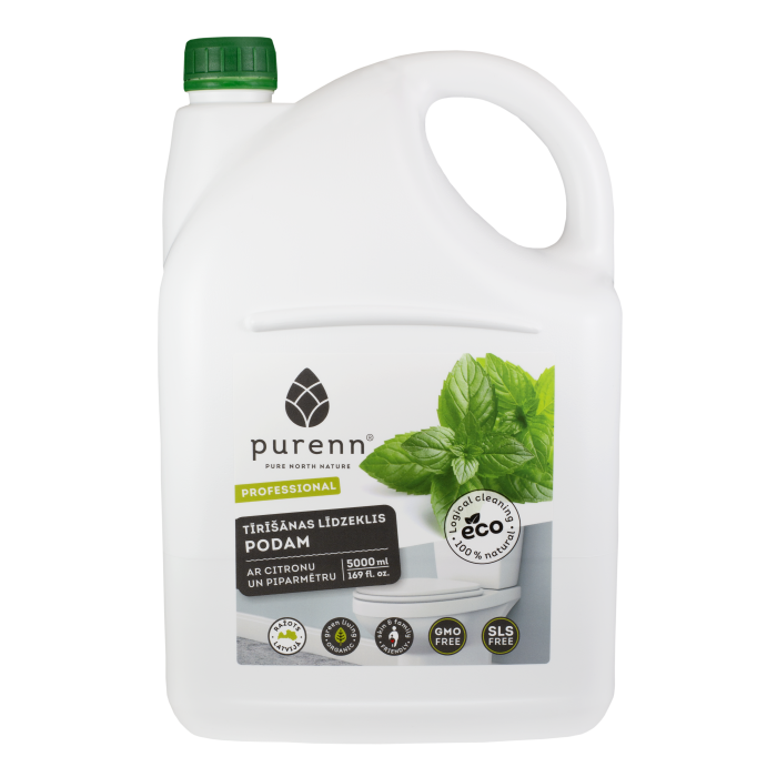 PURENN toilet cleaner with lemon and peppermint essential oils 5L